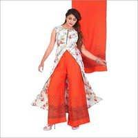 Ladies Floral Print Palazzo Suit