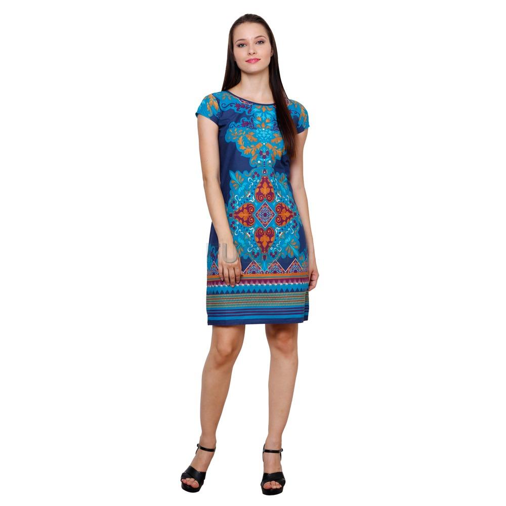 Women's Cotton Printed A-line Dress