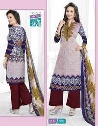 Cotton designer dress ethnic wear mcm jackard