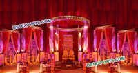 Lighted Fiber Crystal Mandap