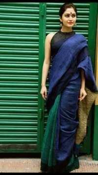 Woven Linen Saree