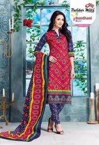Cotton dresses patidar mills bandhani vol-19