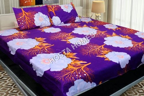 Poly Cotton Multicolor Floral Bed Sheet