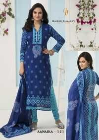 Cotton printed dress materials bhairav annika