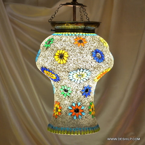 Single Hanging Wire Star Mixed Color Lamp