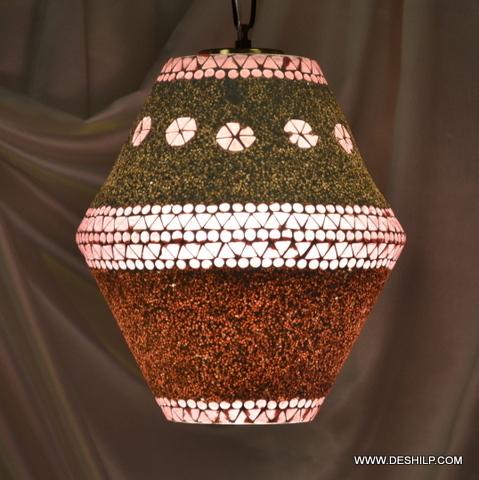 Ball mosaic glass chandelier lantern hanging lamp light Onion Lamp Hanging