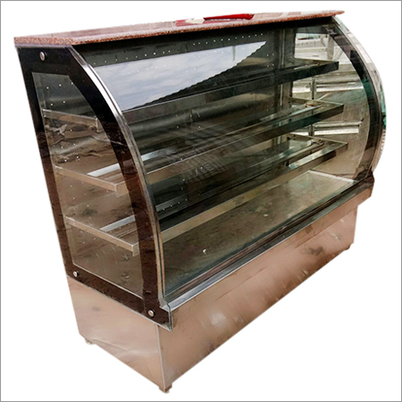 Stainless Steel C Glass Display Counter