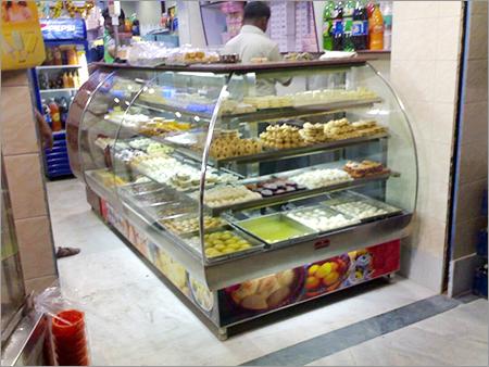 L Shape Bend Glass Counter