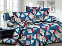 Multicolor Poly Cotton Abstract Design Bed Sheet
