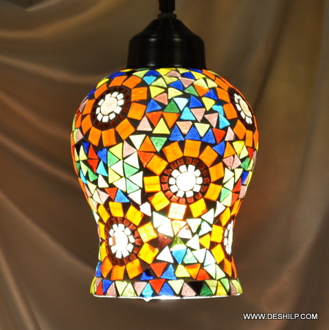 Vintage Antique Ceiling Fixture Glass Chandeliers Lamp Hanging Pendant Light Vintage