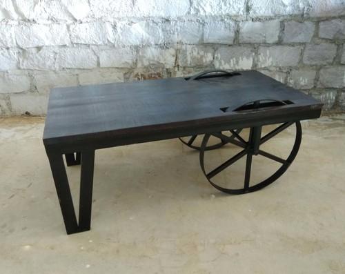 Industrial Vintage Wheel Coffee Table