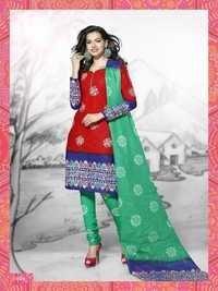 Heavy cotton fabric dress materials by meenaxi batik