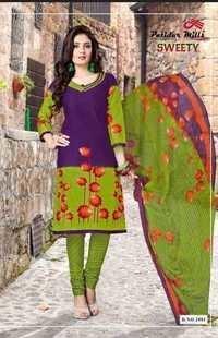 Cotton fabrics with chiffon dupatta by patidar sweety