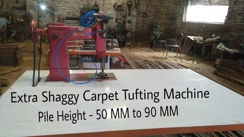 Super Shaggy Carpet Tufting Machine