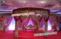 Lighted Fiber Golden Mandap