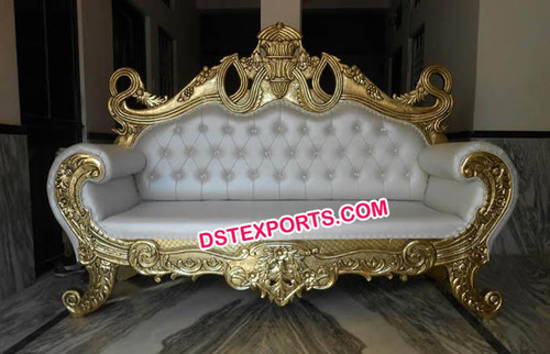 Designer Wedding Gold Metal Sofa