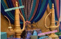 Fiber Golden Surahis For Wedding Decoration