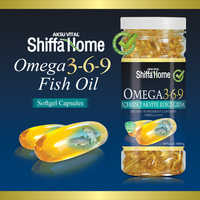 Omega 3-6-9 fish oil softgel supplement