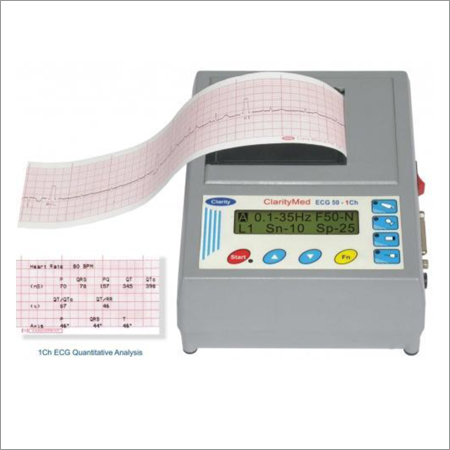 Single Channel ECG Machine