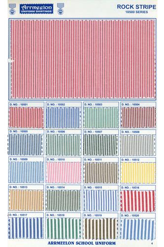 Rock Stripe Uniform Fabric