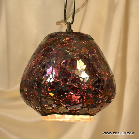 ROST GLASS HANGING, HANGING,DECORATIVE RESIDENTIAL HANGING,