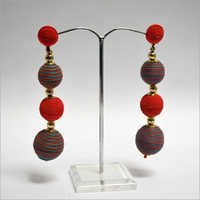 Multi Thread Color Earring