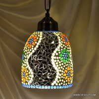 Glass Hanging Silver Pendant Hanging Glass Pendant Light Smoke Glass Lamp Mosaic Hanging Lights