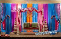 Mehandi Stage Wooden Swing