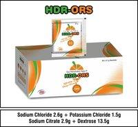 Sodium Chloride  2.6g+Polassium Chloride 1.5g+Sodium Citrate 2.9g+Dextrose 13.5g