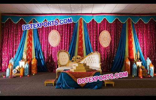 Colourful Wedding Mandap Backdrops
