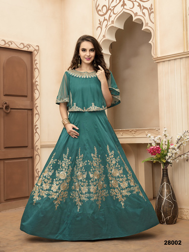 Silk Embroidary Fancy Gown