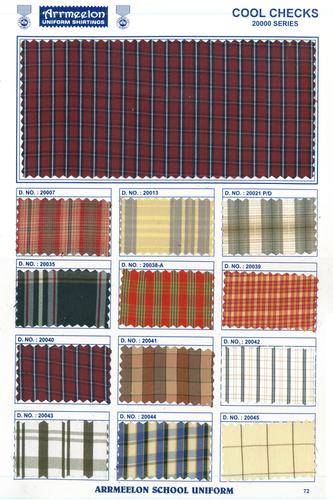 Cool Checks Uniform Fabric