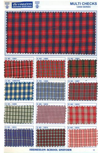 Multi Checks Uniform Shirting Fabric