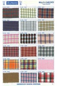 Multi Checks Shirting Uniform Fabric