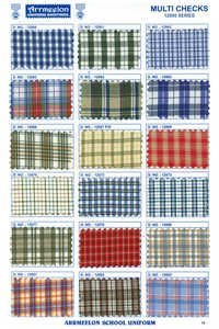 Multi Check Uniform Fabric
