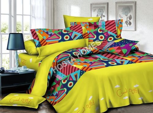 Abstract Design Poly Cotton Bed Sheet