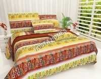 Multicolor Abstract Cotton Bed Sheet