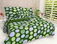Green Color Cotton Bed Sheet