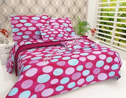 Multicolor Cotton New Design Bed Sheet