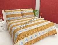Floral Cotton King Size Bed Sheet