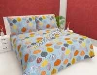 Leaf Design Printed Cotton Bed Sheet