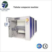 Tubular compacting machine for knitted fabrics