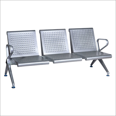 Stainless Steel Three Seater Waiting Chair