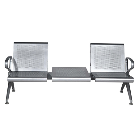 Stainless Steel Two Seater Waiting Chair