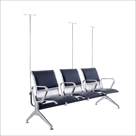Steel Three Seater Transfusion Chair