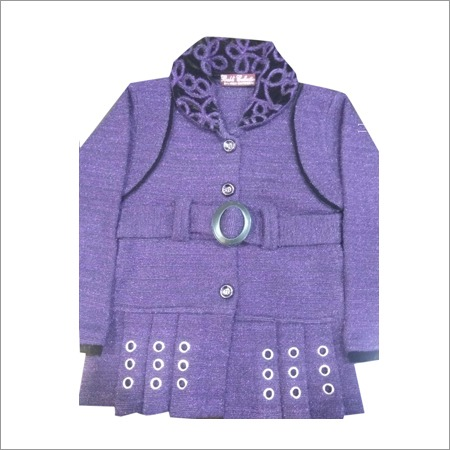 Ladies Baby Frock Belt Design Cardigan