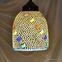 Glass Hanging Silver Pendant Hanging Glass Lamp Mosaic Hanging