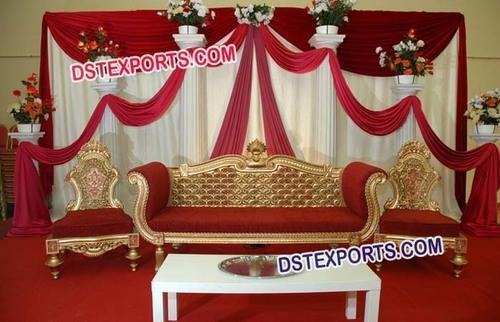 Elegant Golden Royal Sofa Set