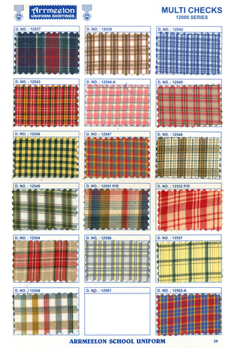 Multi Checks Fabric