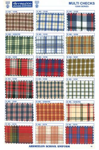 Multi Checks Uniform Fabric